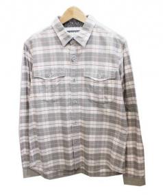 White Mountaineering(ホワイトマウンテニアリング)の古着「シャツ」|ホワイト×グレー