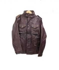 AVIREX(アヴィレックス)の古着「レザージャケット」|ブラウン