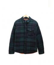 POLO RALPH LAUREN(ポロ バイ ラルフローレン)の古着「ウールダウンジャケット」|グリーン