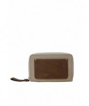MARGARET HOWELL idea(マーガレット ハウエル アイディア)の古着「ラウンドファスナー財布」|ベージュ×ブラウン