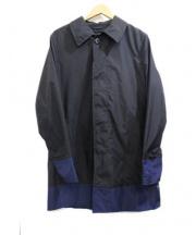 FOX UMBRELLAS(フォックスアンブレラ)の古着「ステンカラーコート」 ブラック