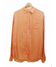 Frank&Eileen(フランクアンドアイリーン)の古着「コットンシャツ」 オレンジ