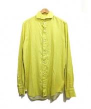 finamore(フィナモレ)の古着「コットンシャツ」|イエロー
