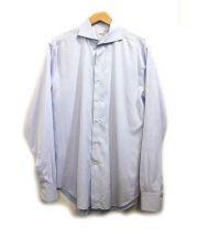 ALSSANDRO GHERARDI(アレッサンドロ ゲラルディ)の古着「ホリゾンタルカラーシャツ」 スカイブルー