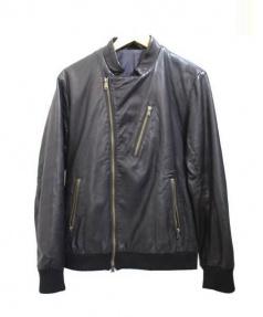 Adam et Rope(アダム エ ロペ)の古着「ラムレザージャケット」|ブラック