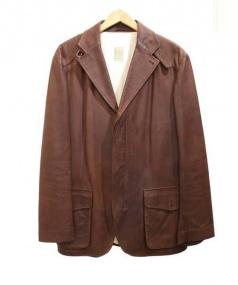 Cinquanta(チンクアンタ)の古着「レザージャケット」 ブラウン