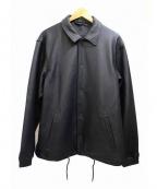 MORGAN HOMME(モルガンオム)の古着「ラムレザーカバーオール」|ブラック