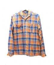 Engineered Garments(エンジニアードガーメンツ)の古着「ネルシャツ」|オレンジ×ネイビー