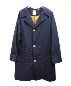 DANTON(ダントン)の古着「ナイロン中綿キルトロングコート」 ネイビー