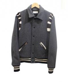 Saint Laurent Paris(サンローランパリ)の古着「ハラコ切替テディジャケット ブルゾン」|グレー