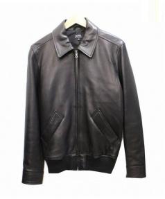 A.P.C.(アーペーセー)の古着「ラムレザージャケット」|ブラック
