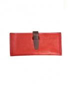 m.ripple(エムリップル)の古着「レザー長財布」|レッド