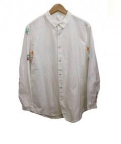 OHTA(オオタ)の古着「刺繍シャツ」|ホワイト