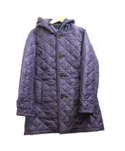 THE SMOCK SHOP(スモックショップ)の古着「フーデッドキルティングコート」|パープル