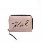 Karl Lagerfeld(カール ラガーフェルド)の古着「コンパクトウォレット」|ピンクベージュ