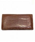LOUIS VUITTON(ルイヴィトン)の古着「クロコダイル長財布」|ブラウン
