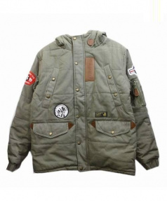AAPE BY A BATHING APE(エーエイプバイアベイシング)の古着「ミリタリージャケット」|オリーブ