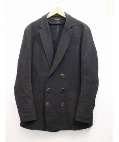GIORGIO ARMANI(ジョルジオ アルマーニ)の古着「ダブルジャケット」|ブラック