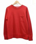 Battenwear(バテンウェア)の古着「ポケットスウェット」|レッド