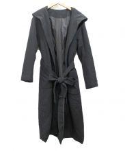 Andemiu(アンデミュウ)の古着「フーデッドロングコート」|ブラック