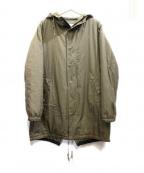 kelen(ケレン)の古着「中綿ミリタリーコート」 カーキ