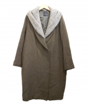 ROSSO(ロッソ)の古着「KNITストール付チェスターコート」|カーキ