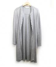 自由区(ジユウク)の古着「ジャージートッパーカーディガン」|グレー