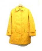 MACKINTOSH(マッキントッシュ)の古着「ゴム引きステンカラーコート」|イエロー