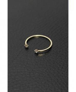 Lilas by Spick & Span(リラ バイ スピック&スパン)の古着「TREND オープンダイヤリング」|ゴールド