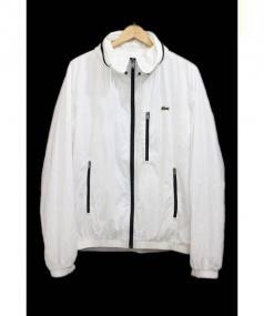 LACOSTE(ラコステ)の古着「ナイロンジャケット」 ホワイト