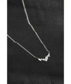 TSUTSUMI(ツツミ)の古着「ダイヤモンドプチネックレス」|シルバー