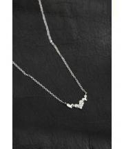 TSUTSUMI(ツツミ)の古着「ダイヤモンドプチネックレス」 シルバー