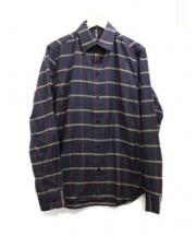 agnes b homme(アニエスベーオム)の古着「チェックシャツ」|ダークグレー×レッド×イエロー