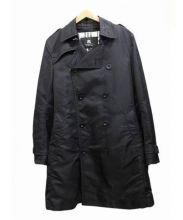 BURBERRY BLACK LABEL(バーバリーブラックレーベル)の古着「キルティングライナー付トレンチコート」 ブラック