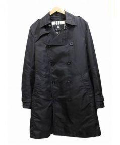 BURBERRY BLACK LABEL(バーバリーブラックレーベル)の古着「キルティングライナー付トレンチコート」|ブラック