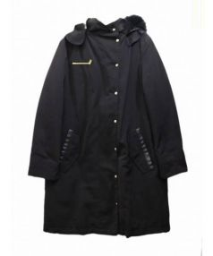 SONIA BY SONIA RYKIEL(ソニア バイ ソニアリキエル)の古着「ライナー付きフーデッドコート」|ブラック