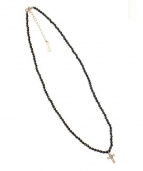 Suman Dhakhwa(スーマンダックワ)の古着「オニキスネックレス」|ブラック×シルバー