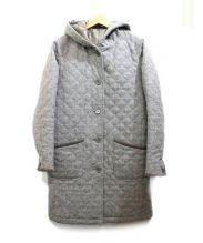Brooks Brothers(ブルックスブラザーズ)の古着「フーデッドキルティングコート」|グレー