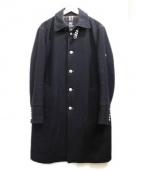 BURBERRY BLACK LABEL(バーバリーブラックレーベル)の古着「カシミヤ混ネルソンルコート」|ブラック