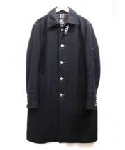 BURBERRY BLACK LABEL(バーバリーブラックレーベル)の古着「カシミヤ混ネルソンルコート」 ブラック