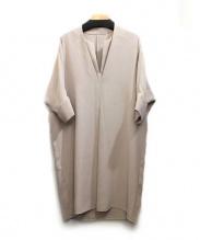 Noble(ノーブル)の古着「スキッパーブラウスワンピース」|ベージュ
