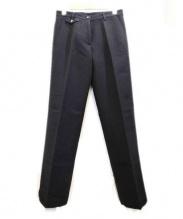 DRIES VAN NOTEN(ドリスヴァンノッテン)の古着「ウールトラウザーパンツ」|ブラック