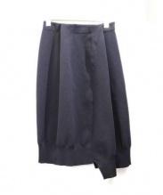 ENFOLD(エンフォルド)の古着「ボンティングスカート」|ブラック