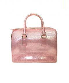 FURLA(フルラ)の古着「PVCボストンバッグ」|ピンク
