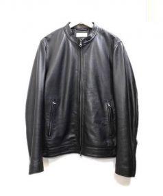 JOURNAL STANDARD relume(ジャーナルスタンダード レリューム)の古着「シングルライダースジャケット」|ブラック