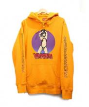 Supreme(シュプリーム)の古着「VampirellaHoodedSweatshirt」|オレンジ