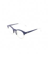 MOSLEY TRIBES(モズリートライブス)の古着「伊達眼鏡」|ネイビー