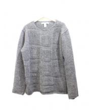 COMME des GARCONS SHIRT(コムデギャルソンシャツ)の古着「切替クルーニット」 グレー