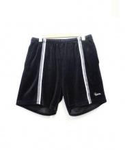 SUPREME(シュプリーム)の古着「velour Warm Up Short Pants」|ブラック