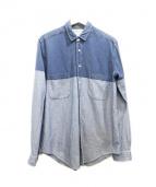 Sidian.Ersatz & Vanes(シディアンエサーツアンドヴェインズ)の古着「バイカラーシャツ」|インディゴ